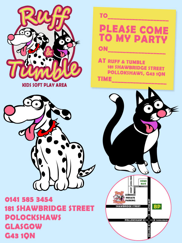 Party Invites | Ruff and Tumble – Glasgow Soft Play
